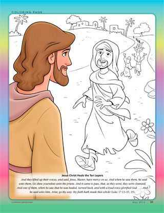 Jesus heals the lepers  Primaria sud  Pinterest  Kolorowanki