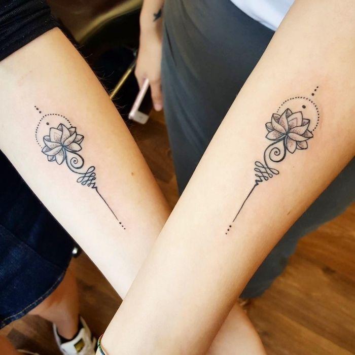 ▷ 1001 + Ideen und Inspirationen für Geschwister Tattoo Motive #minitattoos