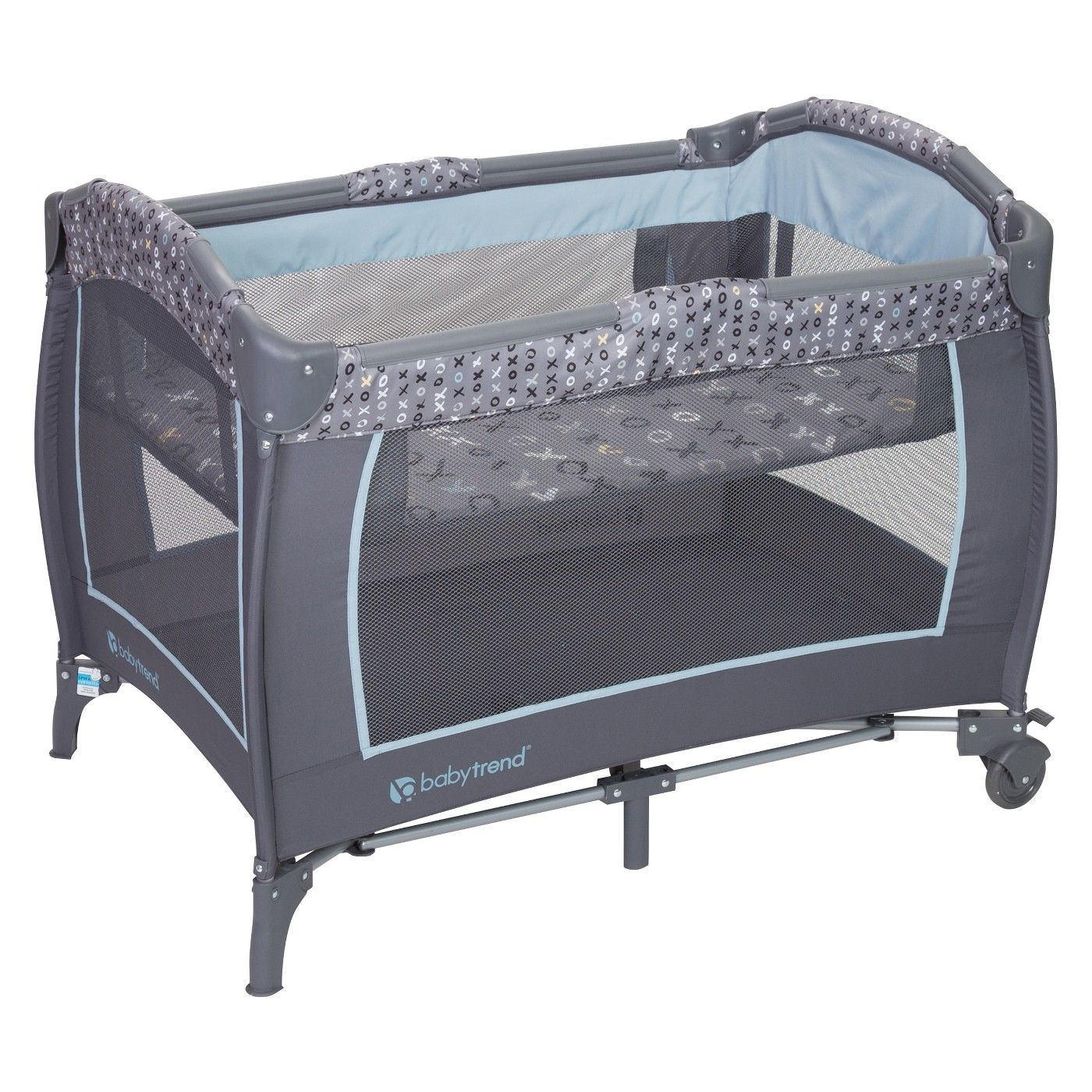 Baby Trend TrendE Nursery Center Playard Starlight Blue
