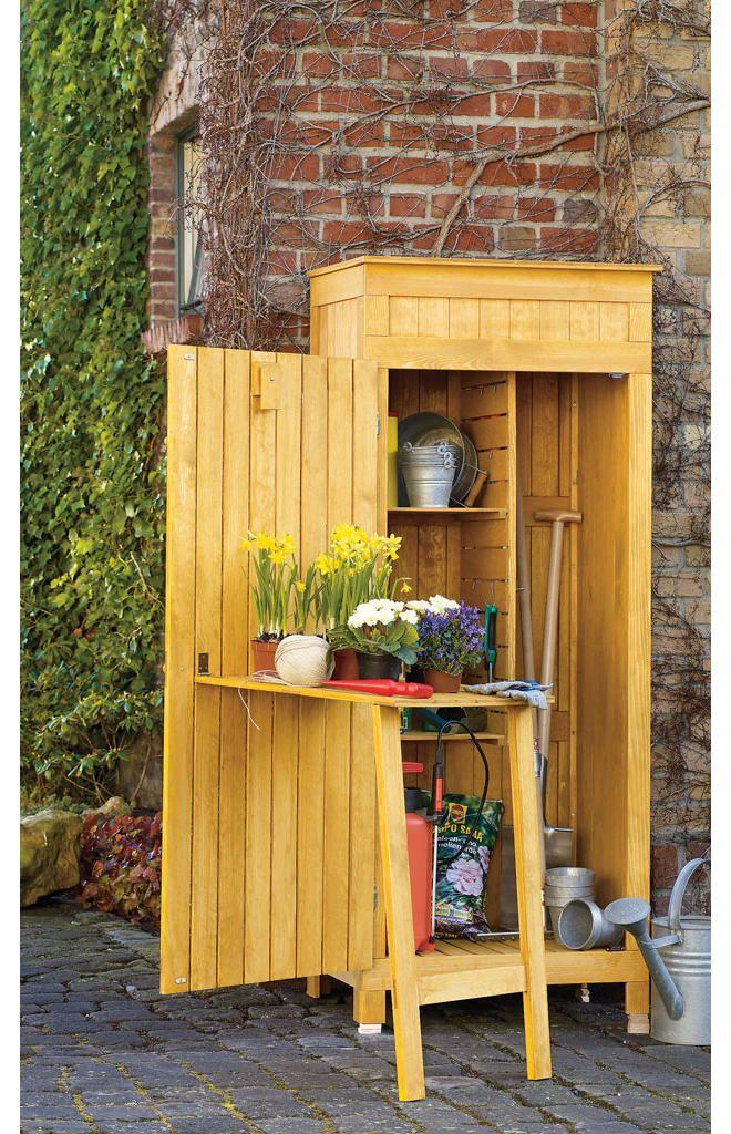 Gartenschrank selber bauen Gartengeräteschrank