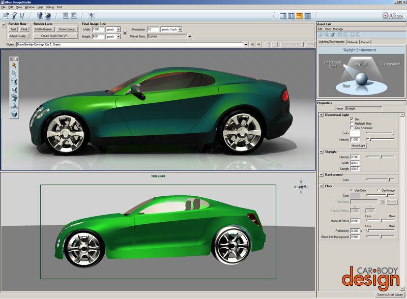 Digital Technologies In Car Design Part 1 Digital Drawings And 3D ...
