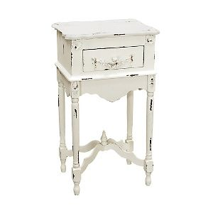 White Milkpaint Side Table at HSN.com.  Want this finish on piece I recently purchased