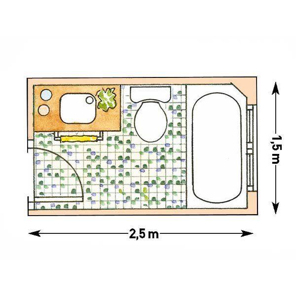 C mo aprovechar los ba os peque os planos de ba os for Medidas de muebles en planta