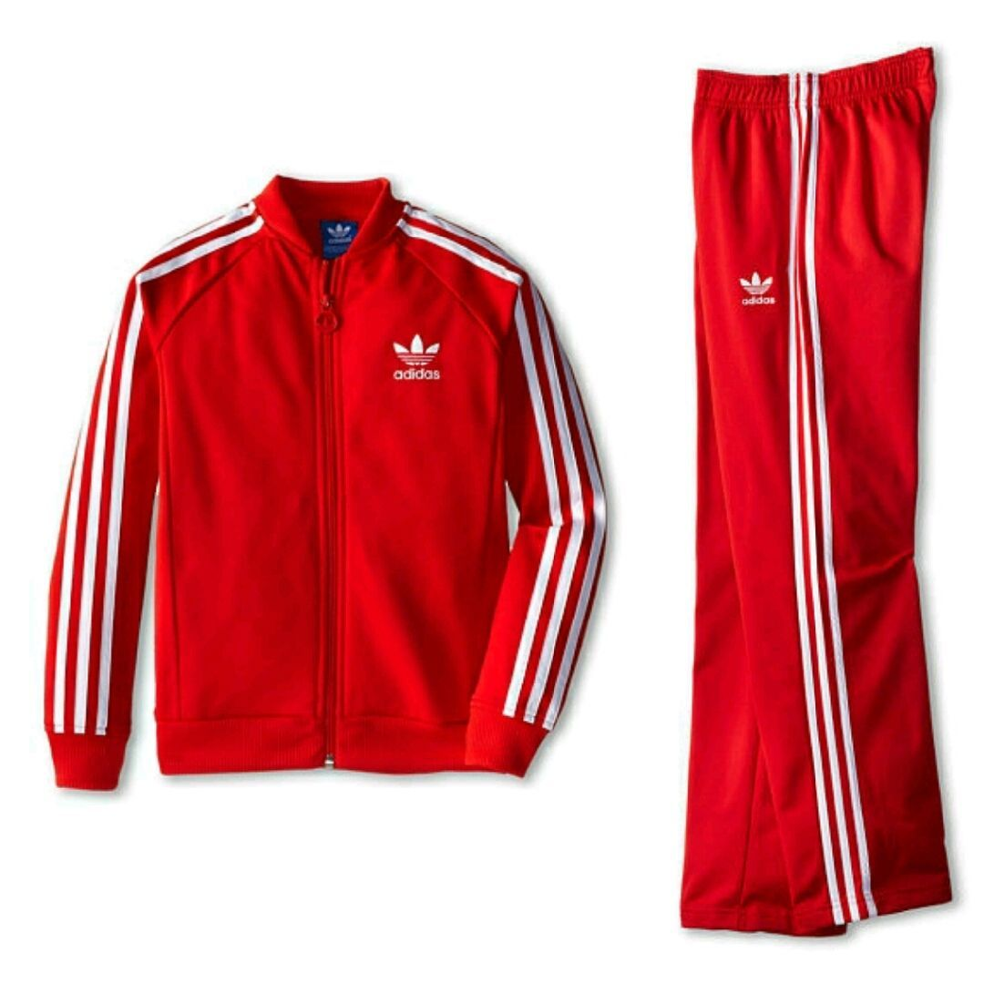Large Boys Adidas Complete Superstar Tracksuit Track Pants Track Top | eBay