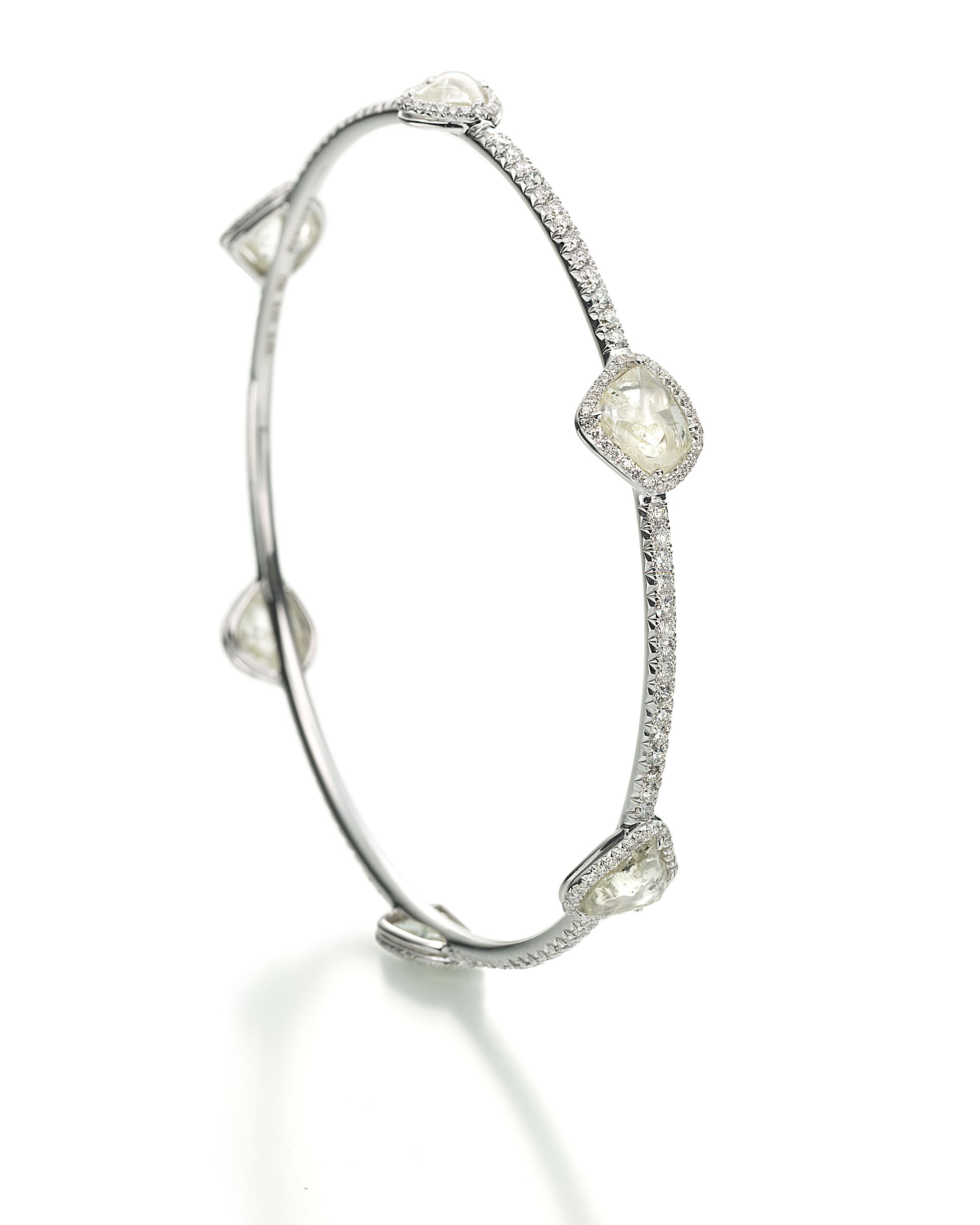 delicate diamond bangle. so pretty!