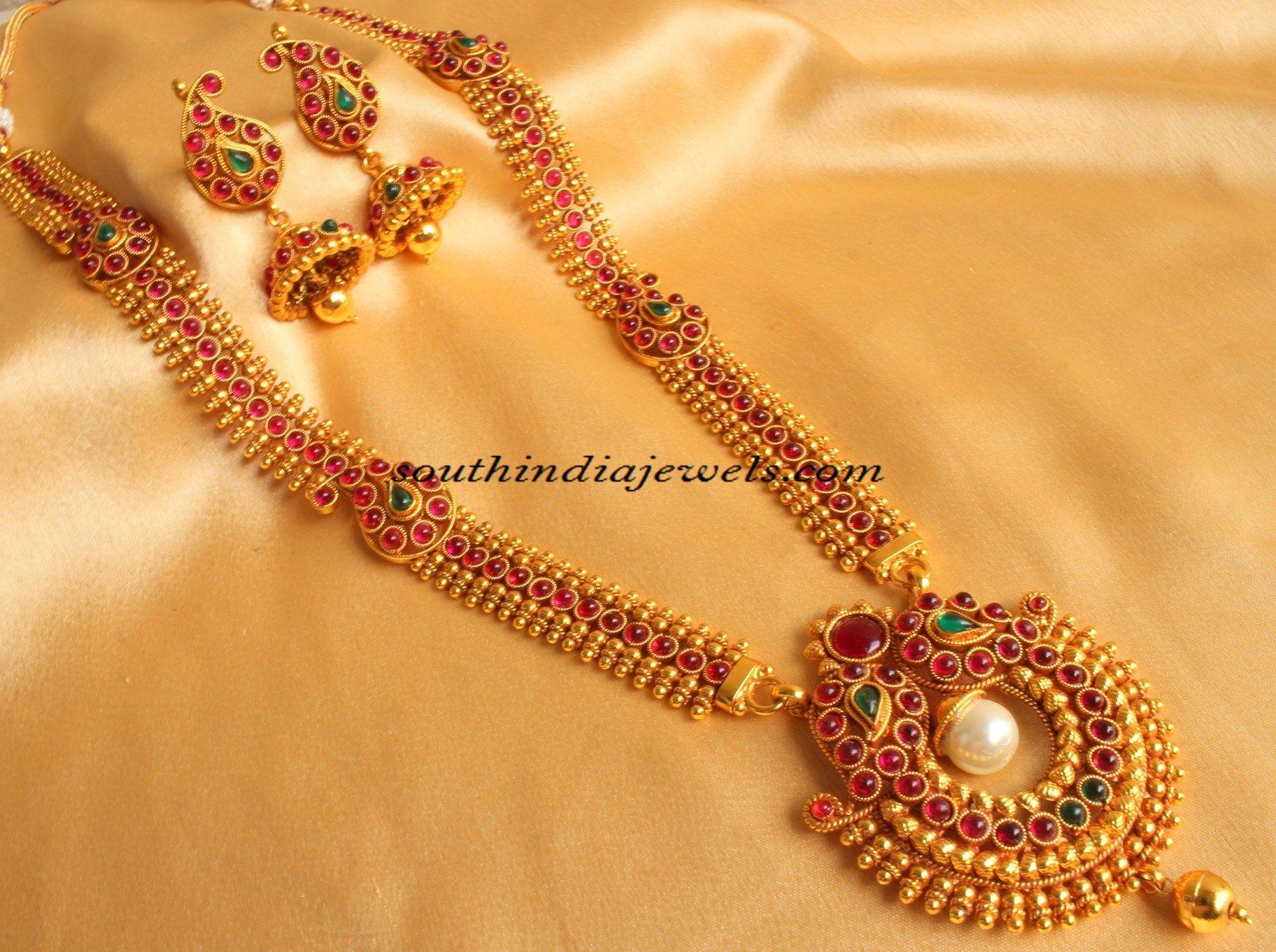 Imitation Jewellery Long Mango mala Haram
