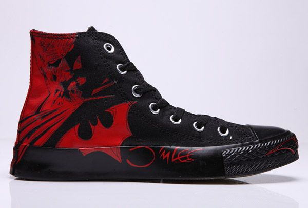 77ef4cd719ce Black Red Converse CT Batman Manga High Tops All Star Sneakers ...