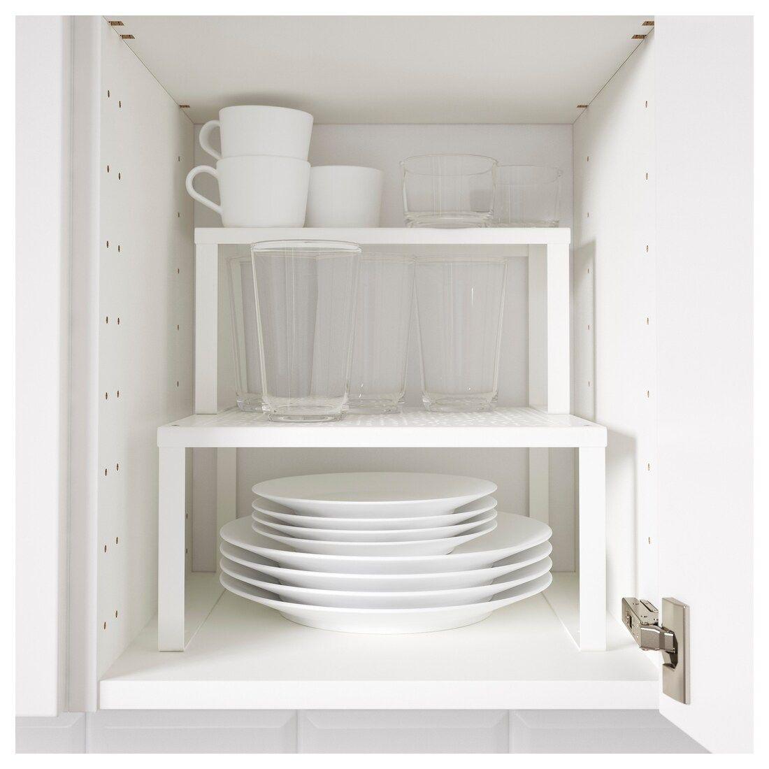 Divisori interni per cassetti aiutano a tenere in ordine trucchi e prodotti per l'igiene personale. Variera Shelf Insert White Width 12 5 8 Order Here Ikea Shelves Kitchen Cabinet Organization Ikea