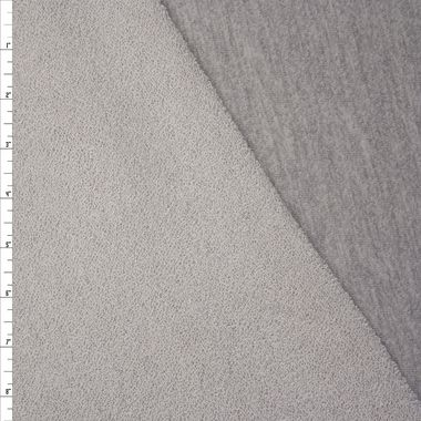 1e9b9085bf5 Heather Grey Light Midweight Cotton French Terry Fabric By The Yard - Wide  shot