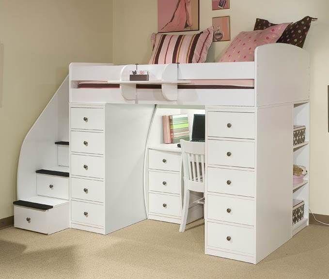 Berg Space Saver Twin Loft Bed W Chests U0026 Reviews (22 808 XX) | ShopLadder