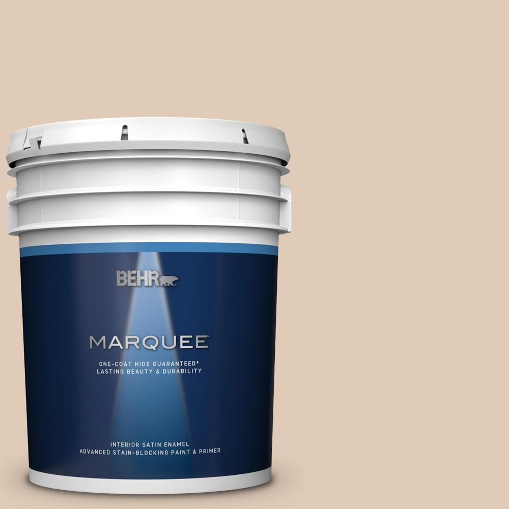 Behr Marquee 5 Gal S240 2 Rice Crackers Satin Enamel Interior Paint And Primer In One Behr Marquee Interior Paint Behr