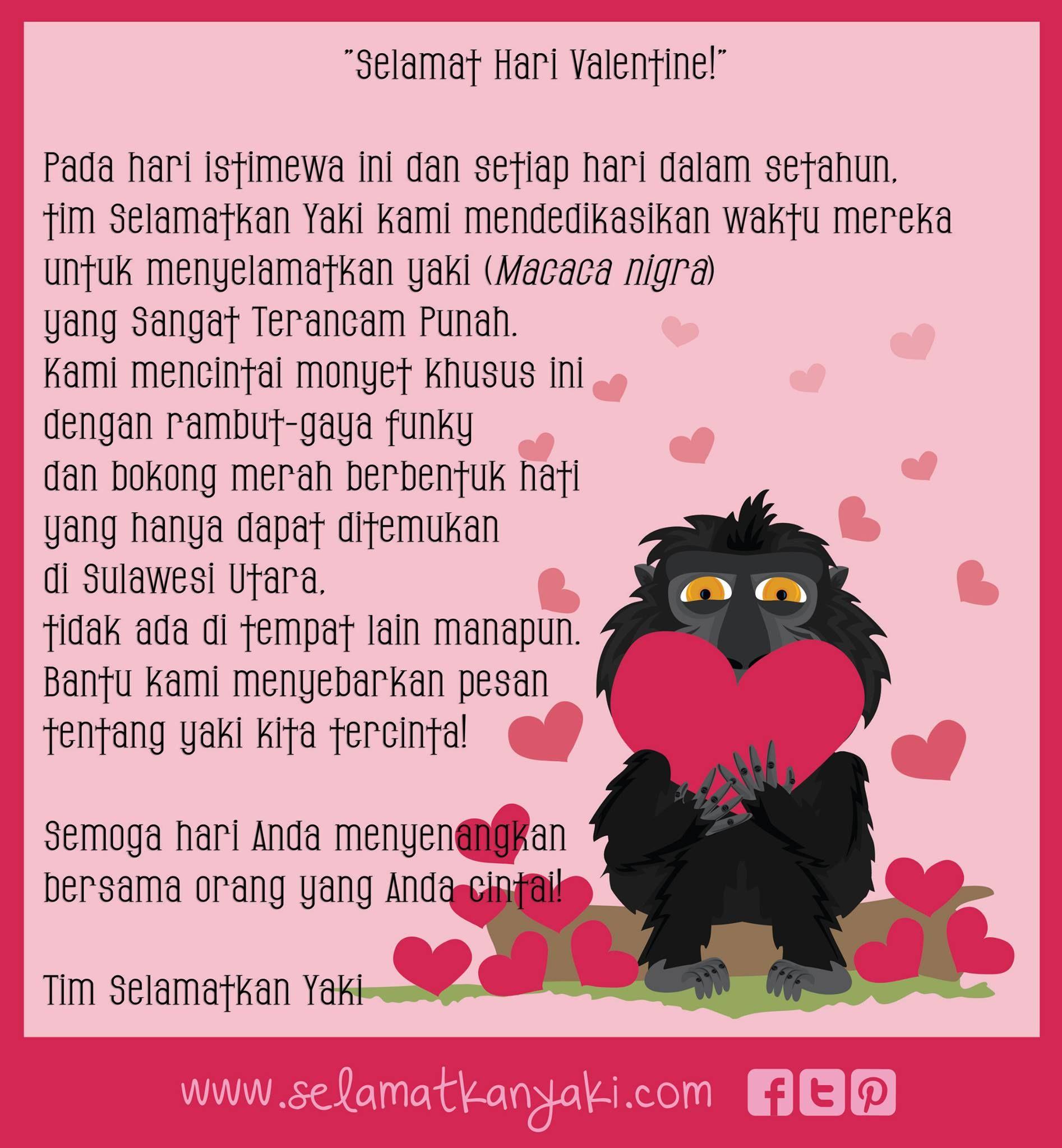 Happy Valentine S Day From Our Selamatkan Yaki Team Valentine Hari Valentine Bentuk