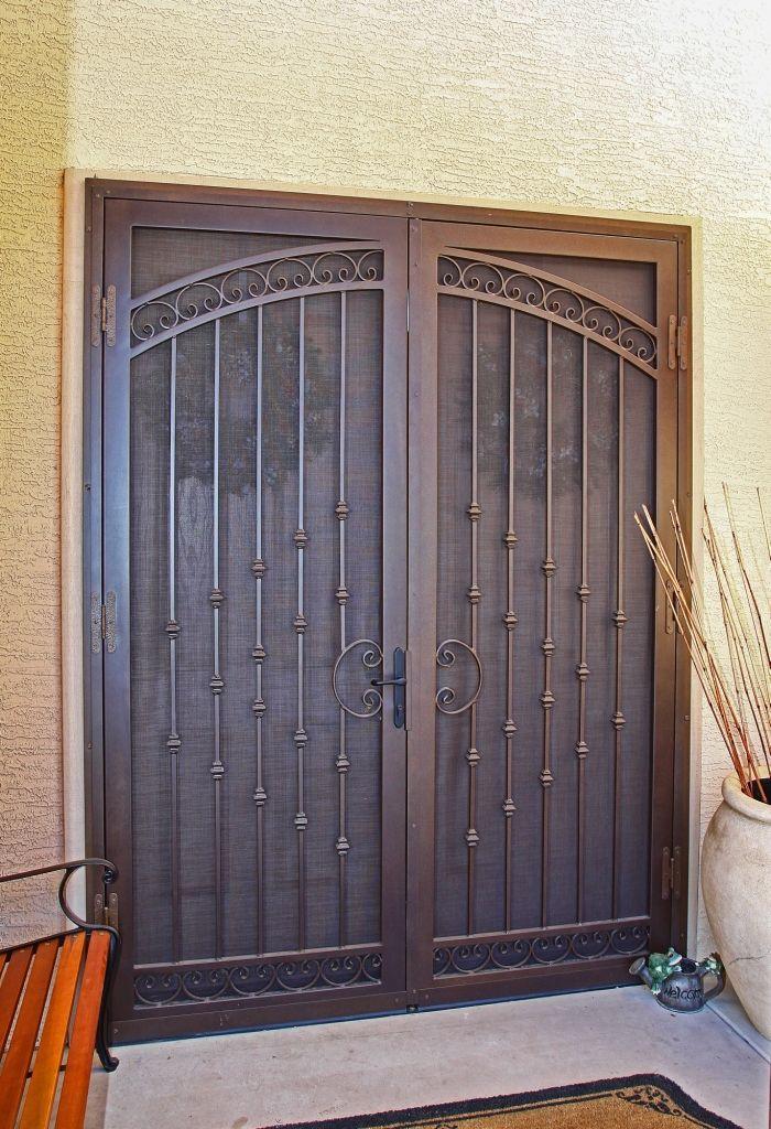 Metal Screen Security Door Californian By First Impression Iron Entry Doors Security Door Metal Screen Doors