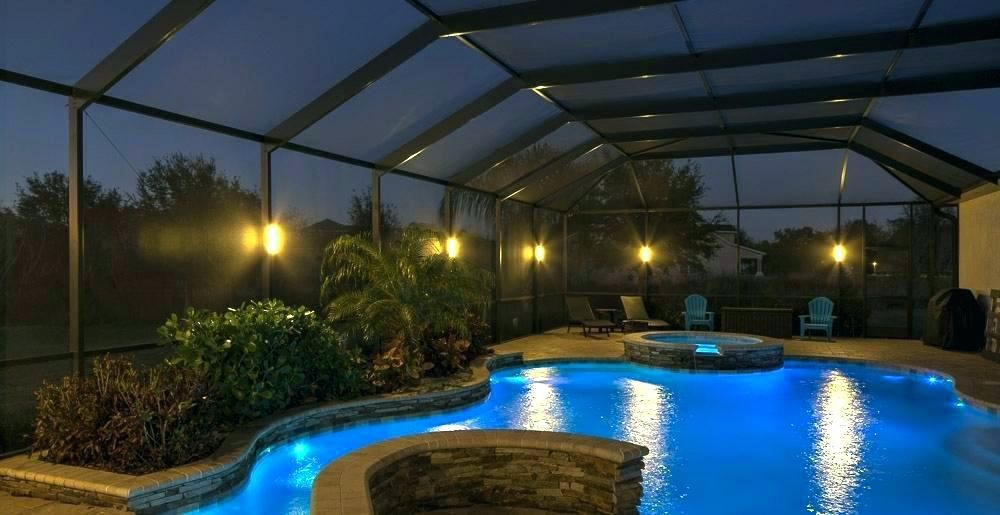Pool Cage Lighting Pool Enclosure Lighting Pool Cage Screen Enclosures