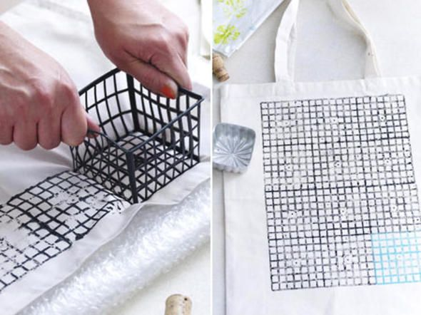stoff bedrucken bunte geschirrt cher taschen etc stempel pinterest stoff bedrucken. Black Bedroom Furniture Sets. Home Design Ideas