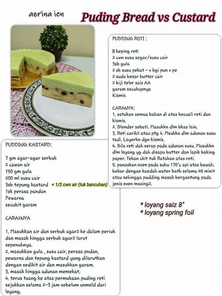 Bread Puding Custard Resep Kue