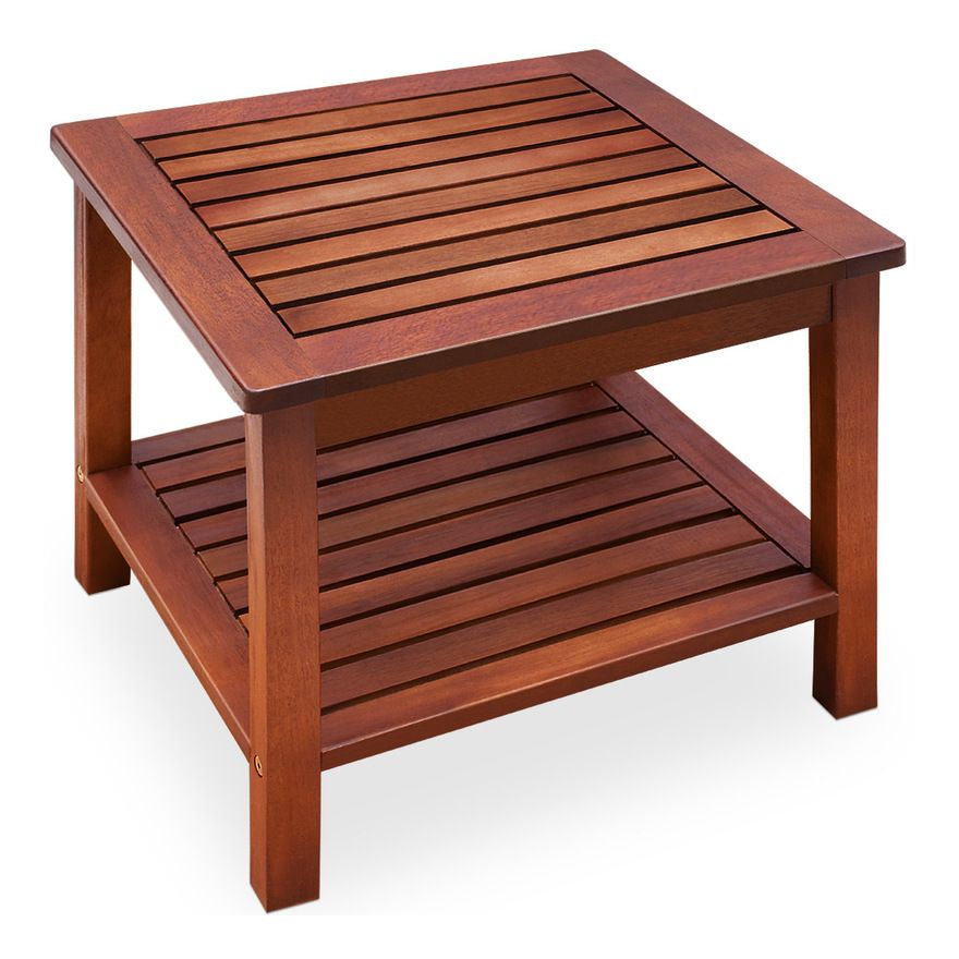 Mobilier De Salon Desserte Table D Appoint En Bois Jardin Salon Acacia Mobilier De Salon Desserte In 2020 Acacia Wood Furniture Wooden Side Table Garden Table