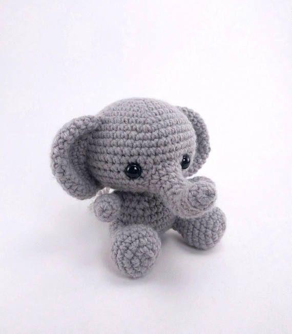 PATTERN: Crochet elephant pattern amigurumi elephant pattern ...