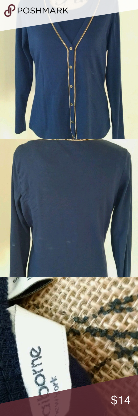 Liz Claiborne Navy Blue Two Piece Sweater Set Sm | Liz claiborne ...