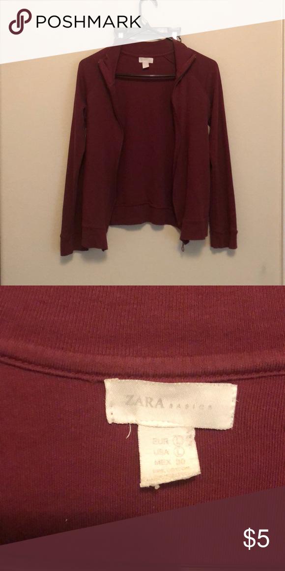 11cdb219cef43 Zara track jacket Burgundy Track jacket