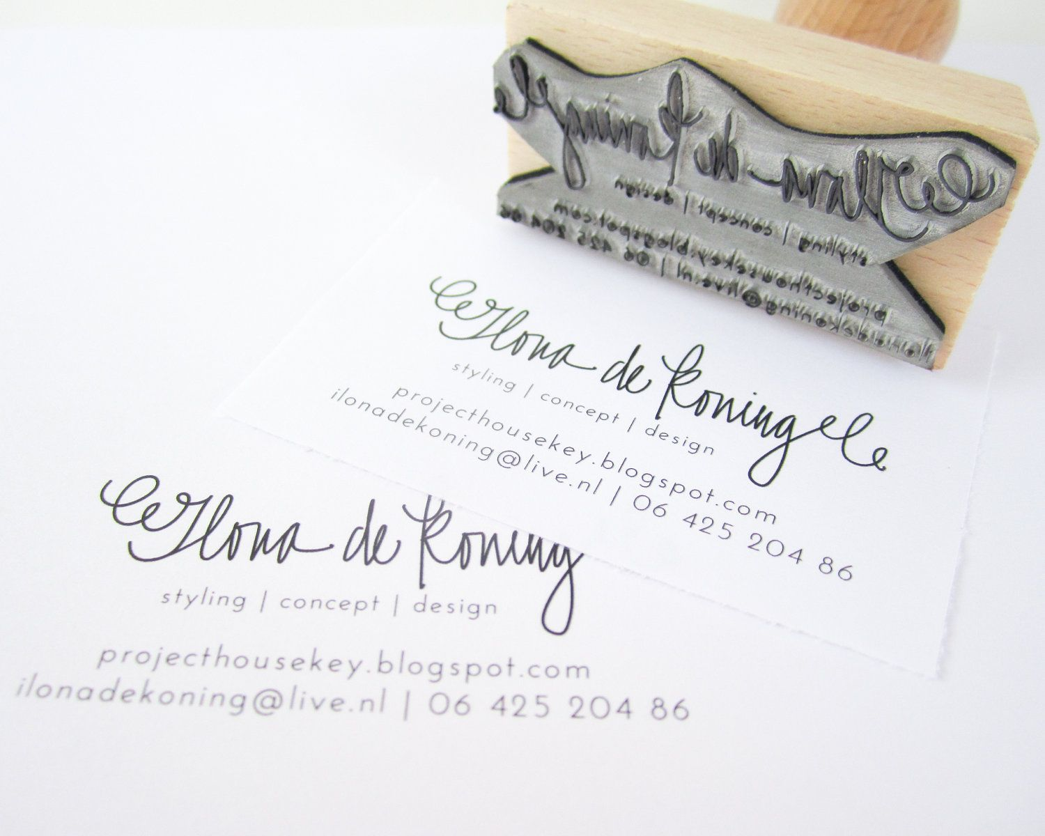 Business Card Stamp - Custom 2 3/4\