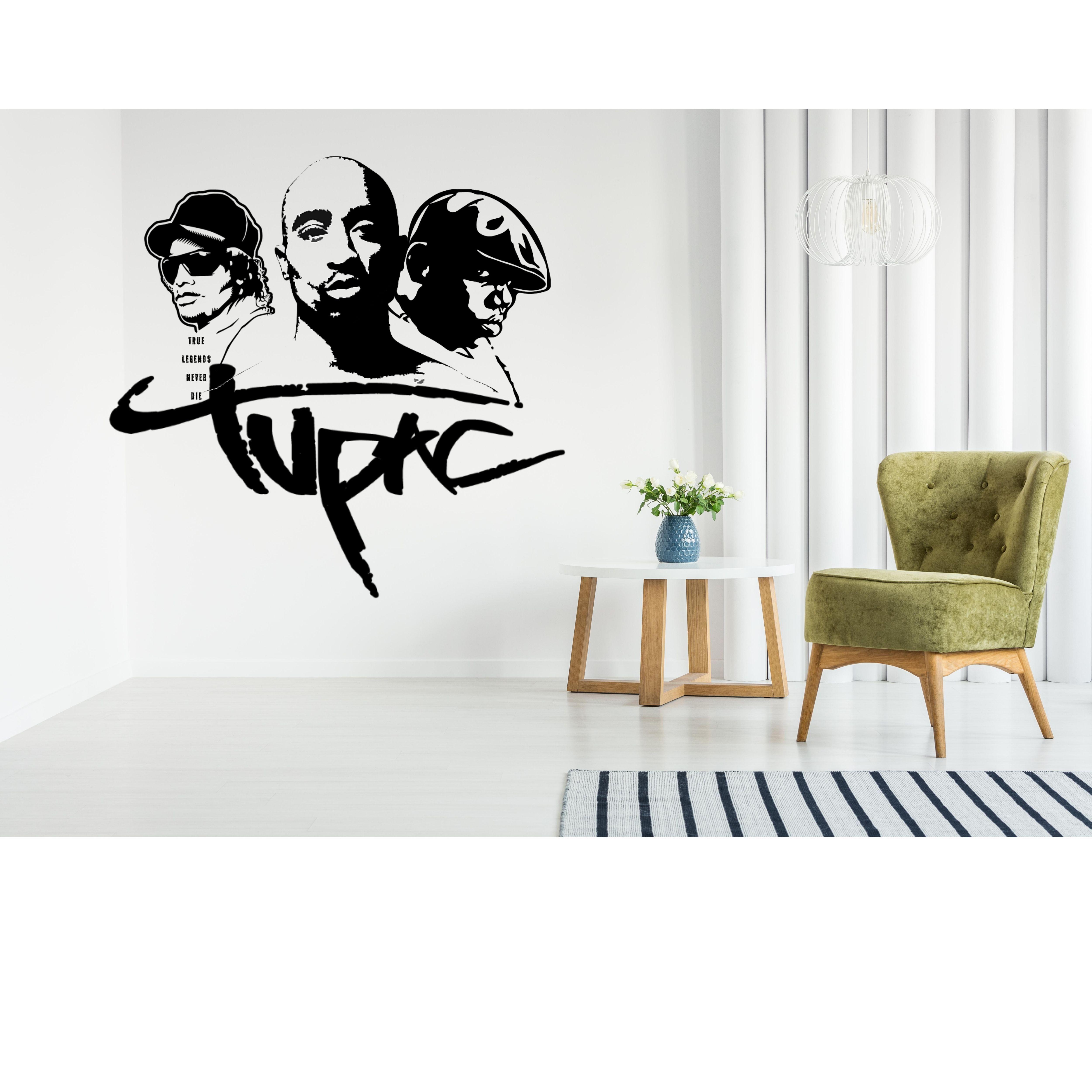 2pac Notorius Big Easy E 90s Hip Hop Legend Window Vinyl Fashion Living Room Sticker Home Wall Decor Home Wall Decor Room Stickers Window Vinyl [ 5000 x 5000 Pixel ]