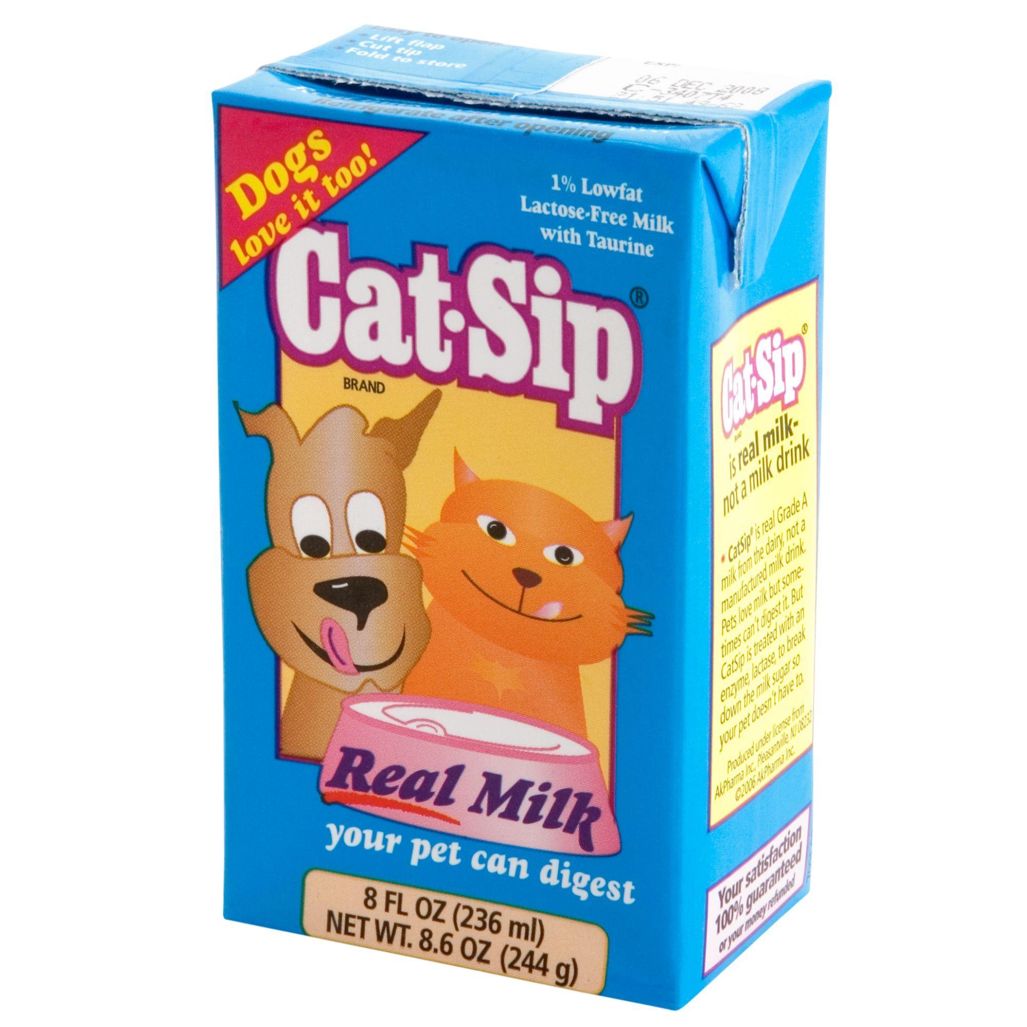 Cat-Sip Milk Cat Treat, Cat Sip, Liquid, Lowfat Milk   Milk for cats, Cat treats, Why do cats purr