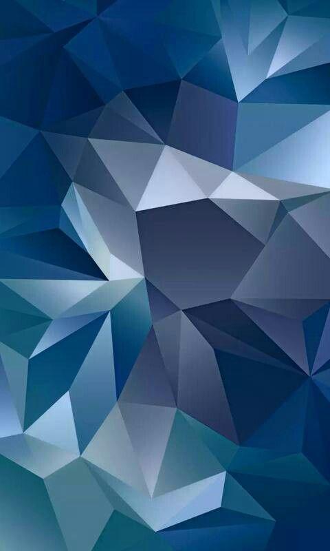 Blue Geometric Galaxy Phone Wallpaper Abstract Iphone