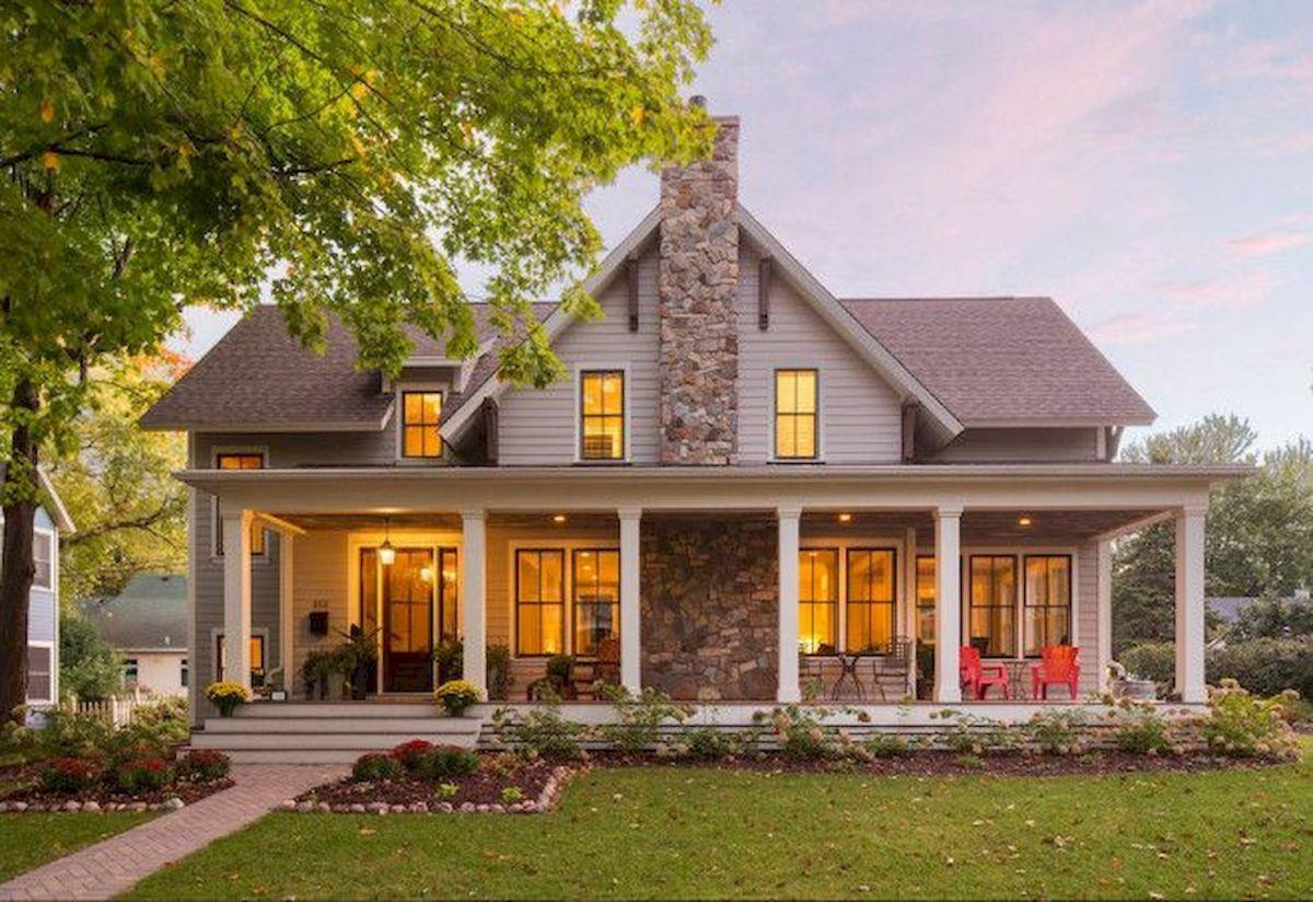 Best Modern Farmhouse Exterior Design Ideas (33) Modern