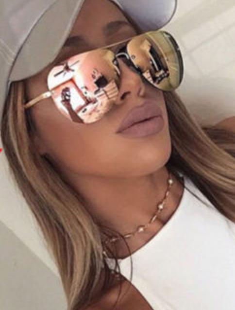 8f93e73963 FOR SALE  Vintage Retro Women s Rose Gold Cat Eye Designer Large Mirrored  Sunglasses UV400