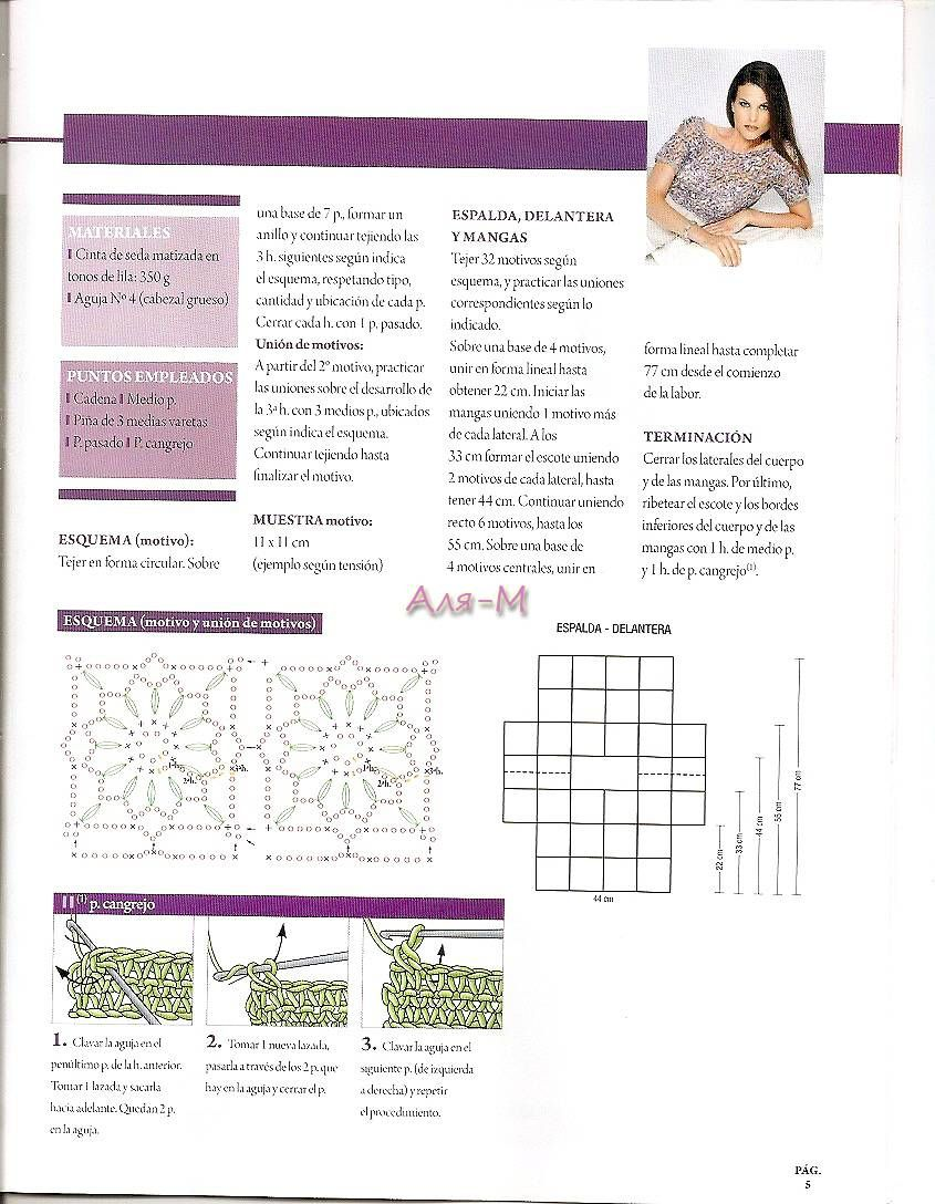 Pin de Daniela Betta en proyectos | Pinterest | Blusas de crochet ...