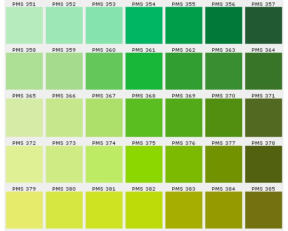 Image result for green colour chart