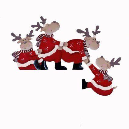 Turrahmen Deko Purzelnde Elche Tur Rahmendeko Weihnachtsdeko Amazon De Kuche Haushalt Weihnachtskunst Weihnachtsdeco Basteln Diy Weihnachten