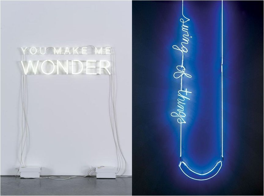 you make me wonder light light words neon art interior design