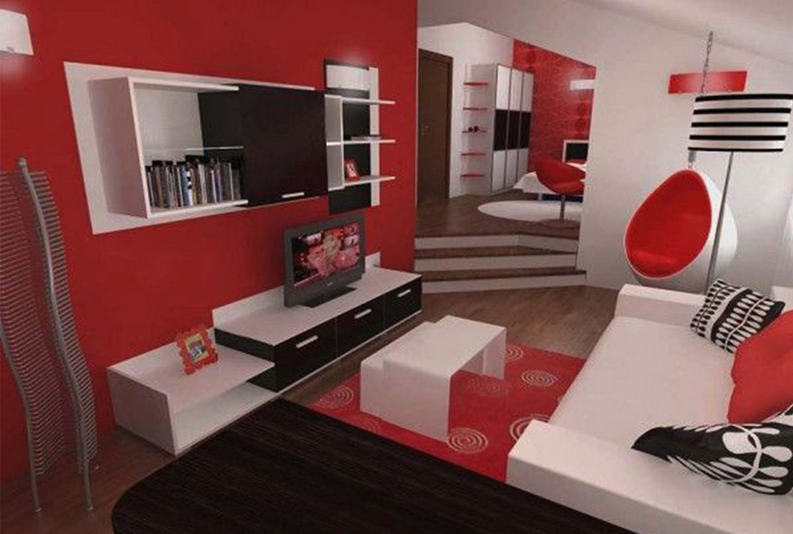 61 Best Room Decoration Ideas On A Budget Freshouz Com Living Room Red Red Living Room Decor Black And White Living Room