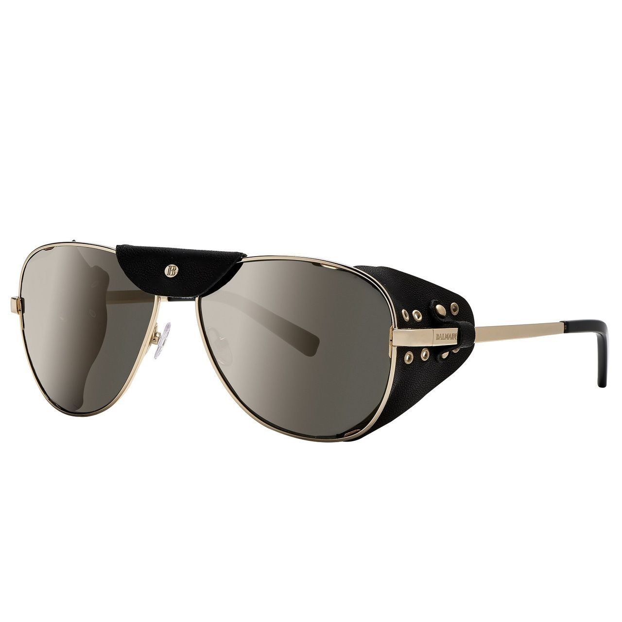 3637e14a0f67e1 Balmain 'Limited Edition' metal and leather aviator sunglasses |  CondemnedtoBeFree.com