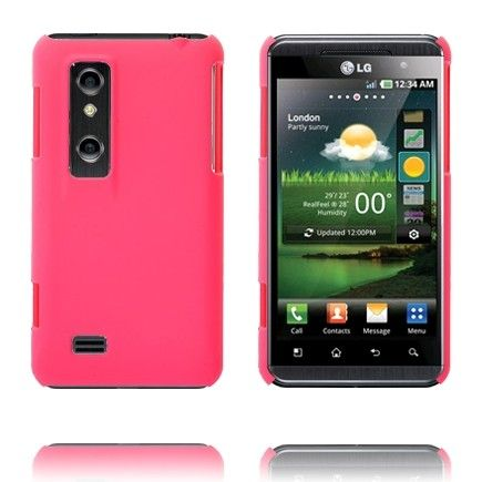 Hard Shell (Vaaleanpunainen) LG Optimus 3D Suojakuori