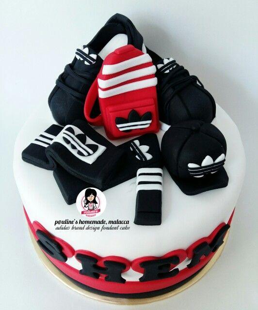 Adidas Design Fondant Cake ♡ Fondant ♡ In 2019 Cake