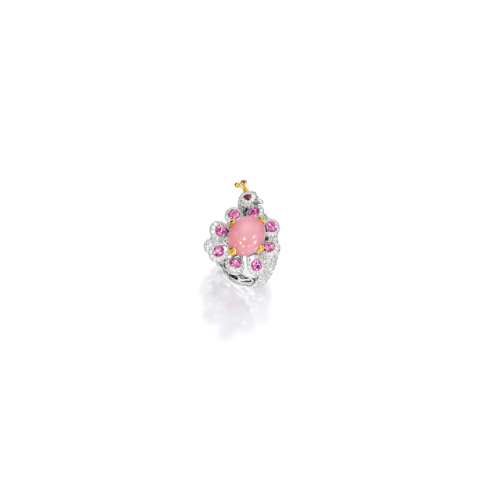 Conch Pearl, Pink Sapphire and Diamond Ring | Lot | Sotheby's