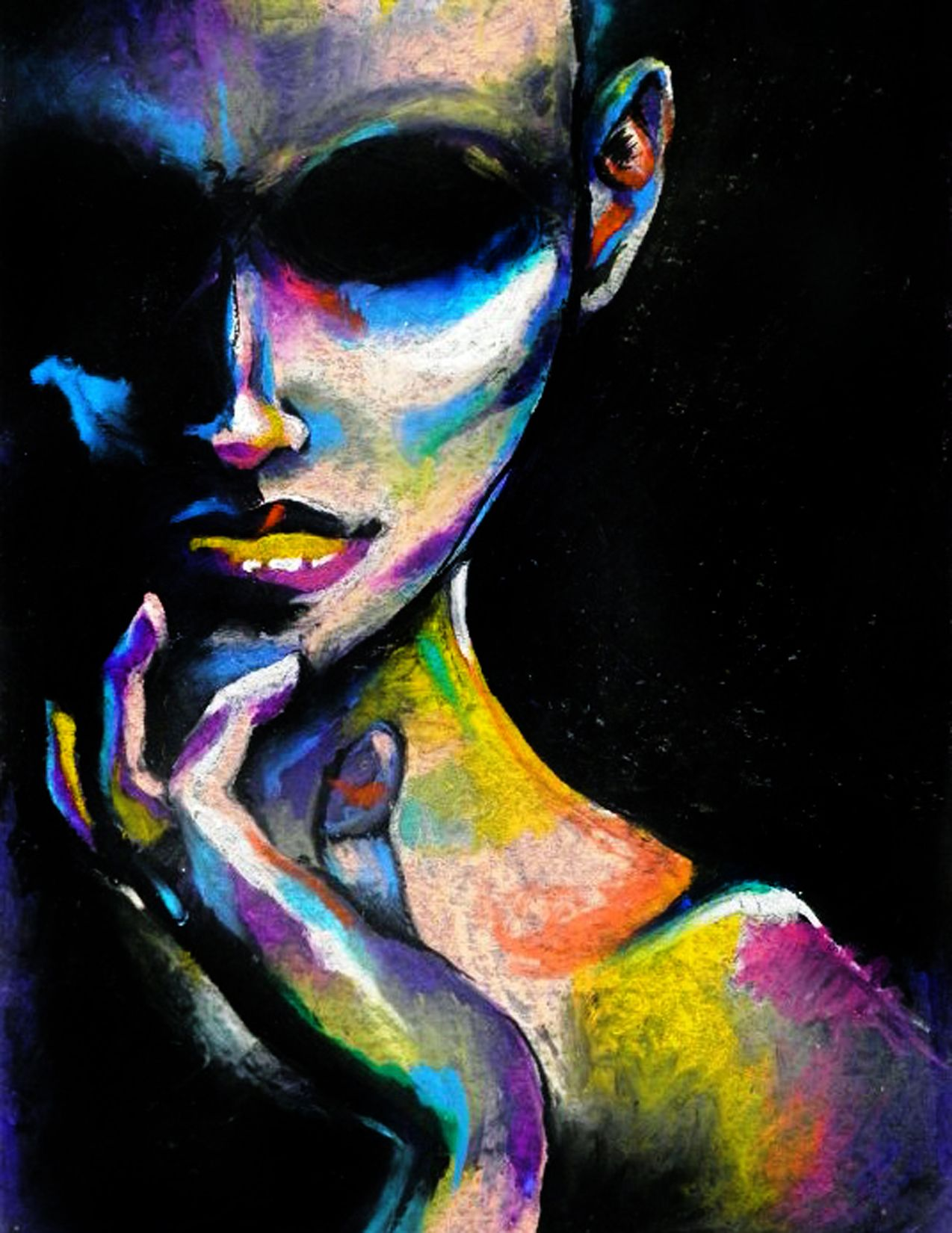 Colorful pastel drawing ashleydorneyart tumblr com oil pastel art chalk pastel art