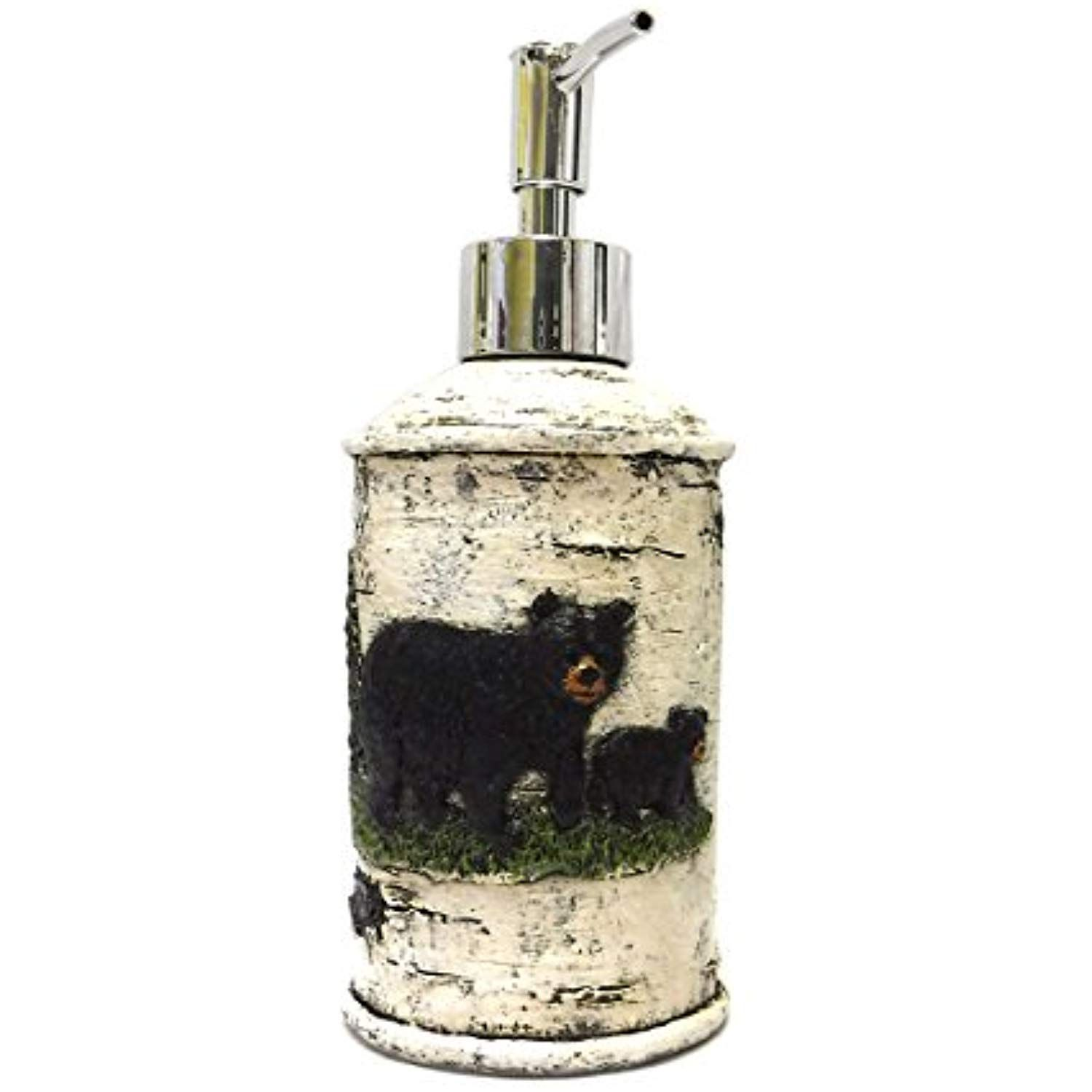 marco black bear on birch bathroom accessories lotion pump you rh pinterest com