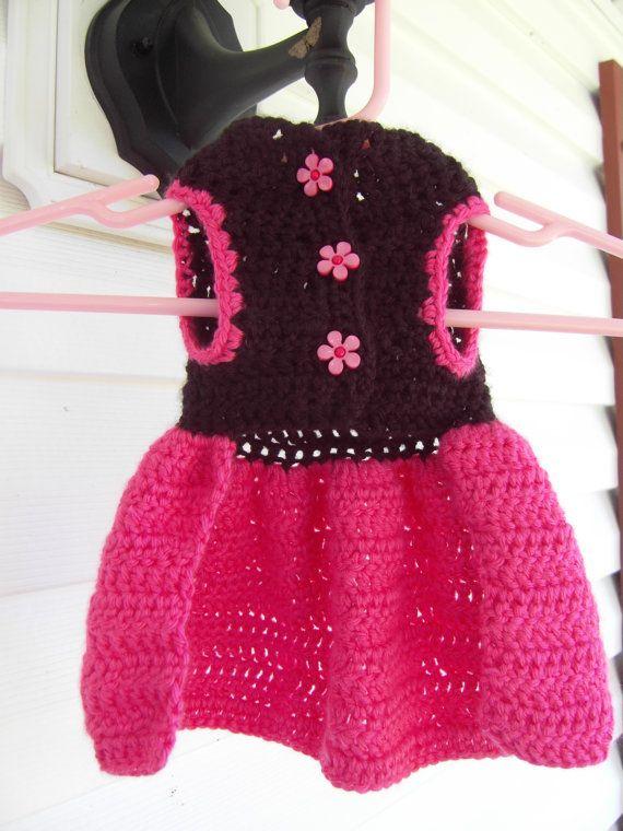 Crochet Dog Dress Dogs Pinterest Dog Dresses Crochet And Dog