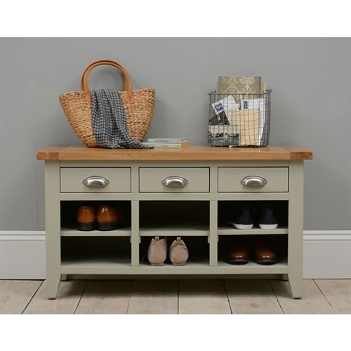 Hallway Storage, Shoe Storage and Benches | Oak, Solid Wood and White | The Cotswold Company