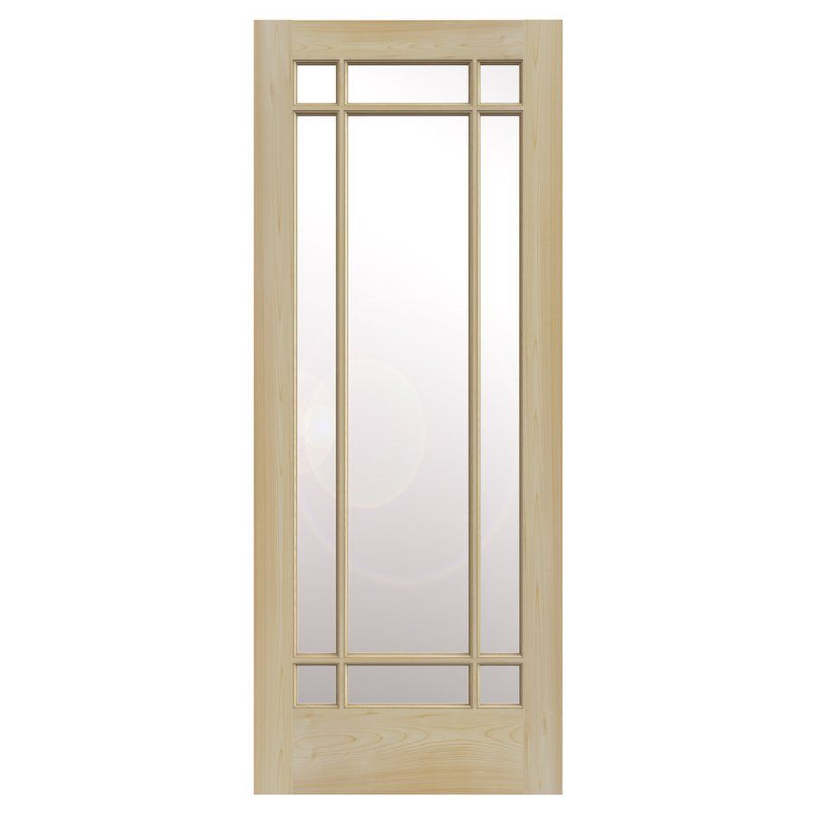 Reliabilt 30 In X 80 In Full Lite Solid Wood Clear