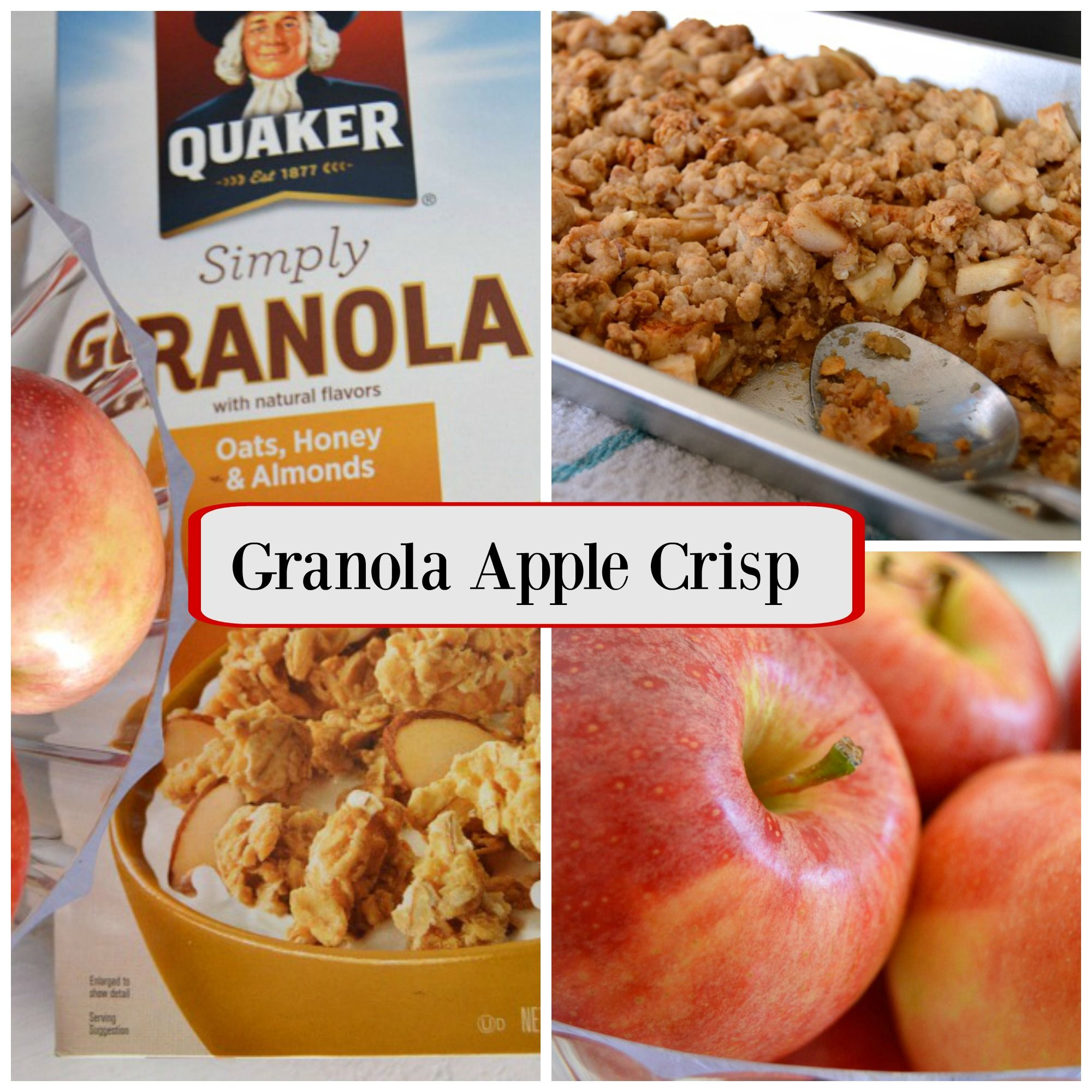 Granola Apple Crisp - Mom in Music City #applecrisp