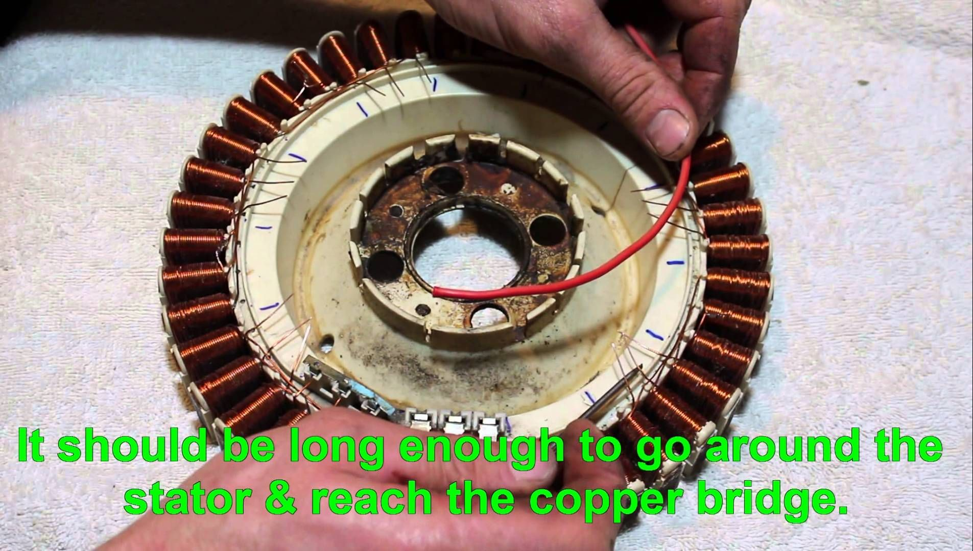 F&P washing machine stator rewiring tutorial | Homesteading