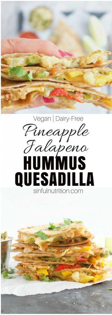 Pineapple Jalapeno Hummus Quesadilla