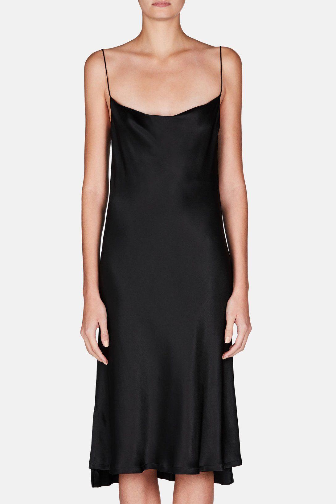 c275fee5af67 Dress 38 Draped Slip Dress - Midnight | Getting oneself dressed ...