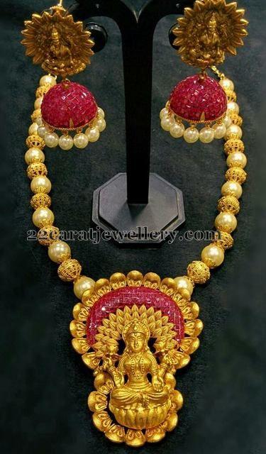 1 Gram Gold Lakshmi Jewellery Gold Indian jewelry and Jewel