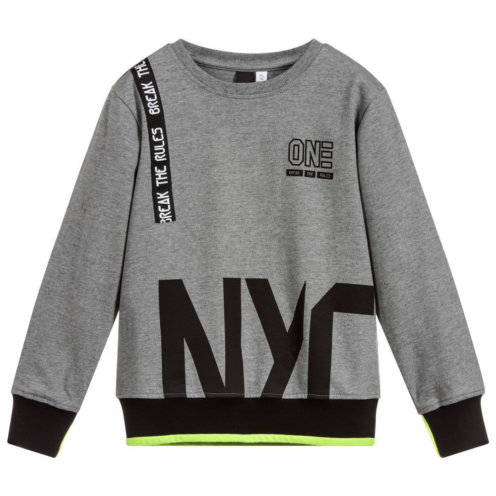f1dcd687d Boys Grey Cotton Sweatshirt for Boy by iDO Junior. Discover the latest  designer Tops for kids online